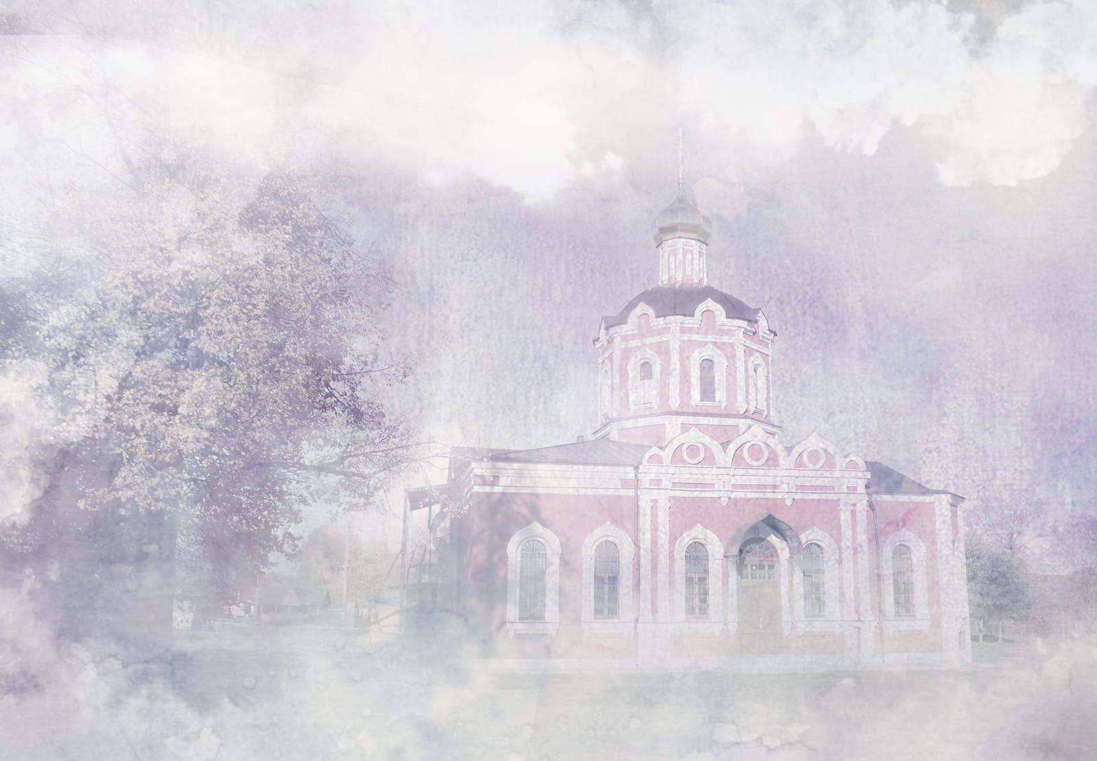 Восстановление разрушенной колокольни храма Собора Иоанна Предтечи